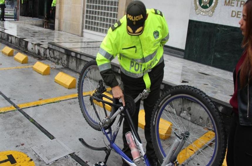 Policía de Bogotá ubica 14 ciclas robadas en locales comerciales de Tunjuelito