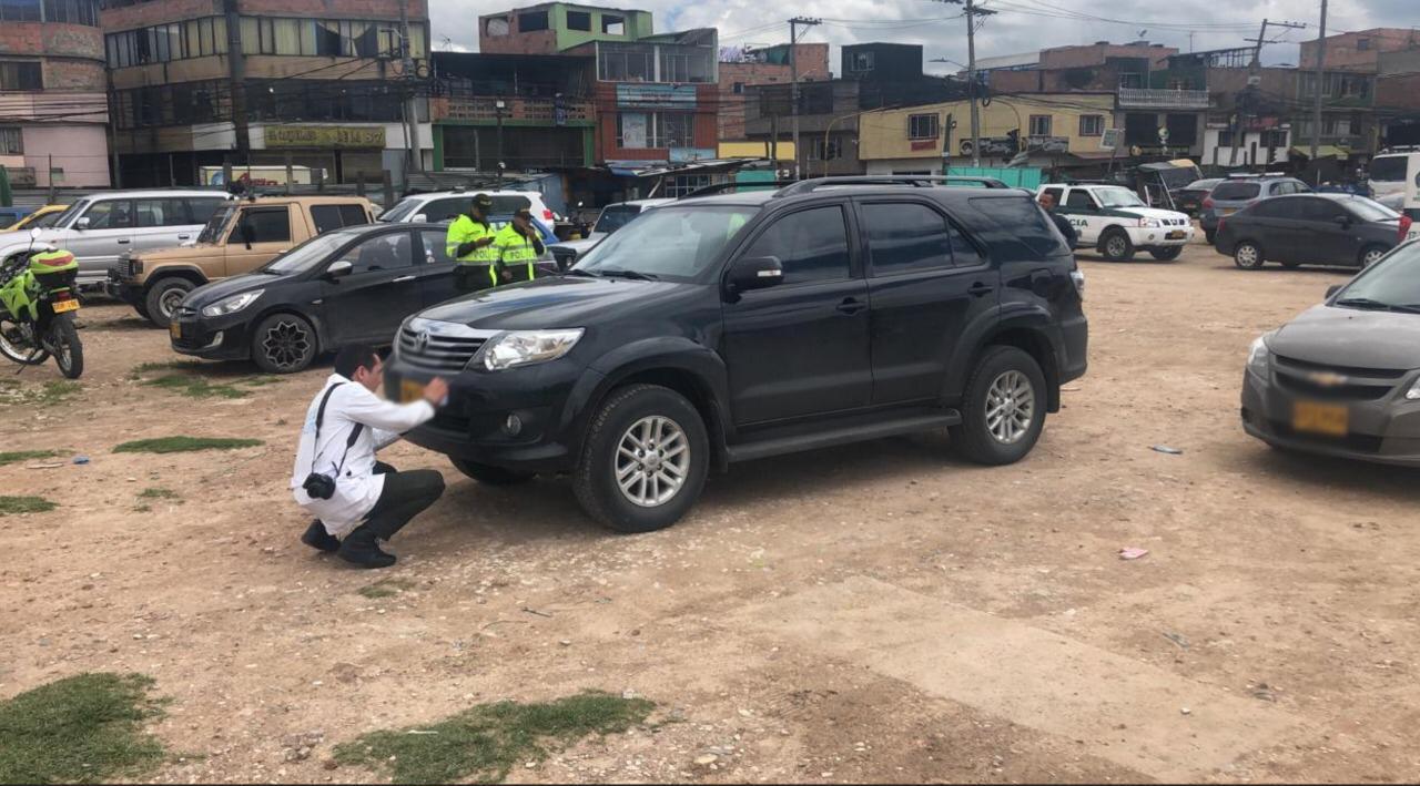 Apareció la camioneta de alta gama hurtada a dos periodistas en Engativá