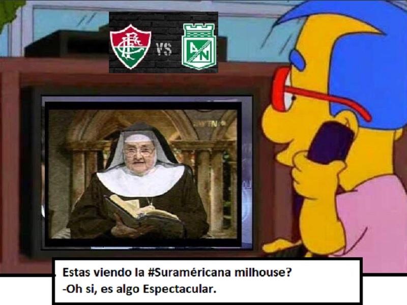 Los memes en contra el Atlético Nacional por la goleada del Fluminense