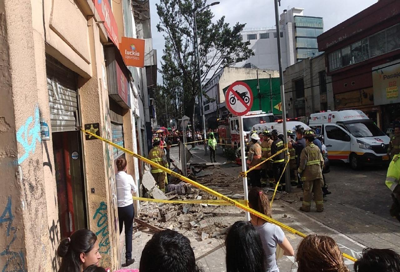 Identifican al señor y a la señora que murieron tras caerles pared en Chapinero