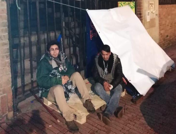 Estudiantes de la Universidad Autónoma en Bogotá inician huelga de hambre