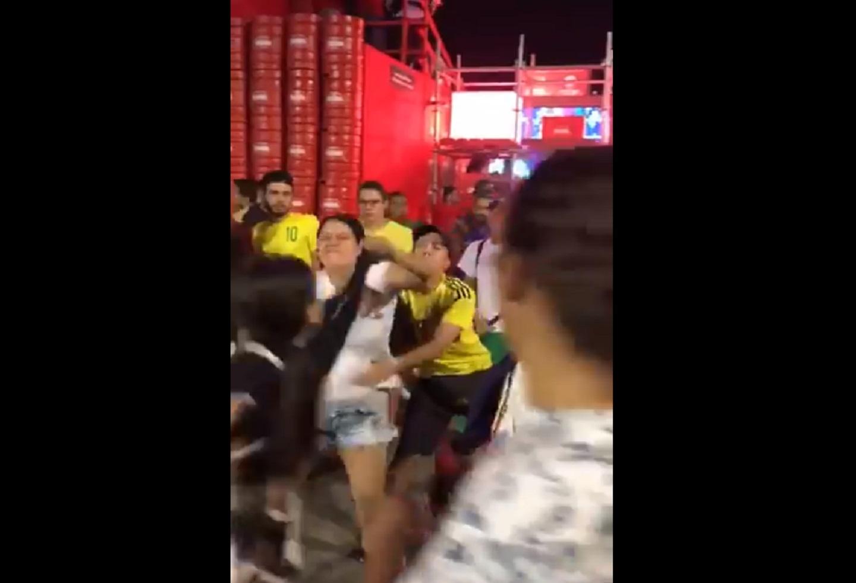 En video: Así se dieron en la mula varios hinchas de la Selección Colombia en la Copa América