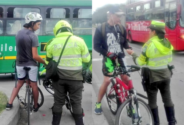 ¡Ojo! Ciclistas que invadan carriles de Transmilenio tendrán que pagar 110.415 pesos de multa
