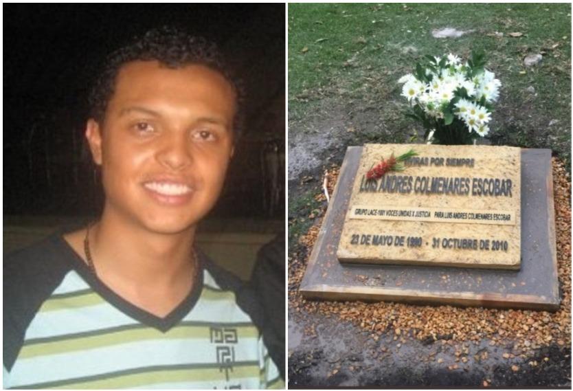 Padre de Luis Andrés Colmenares denuncia que la placa de su hijo fue profanada