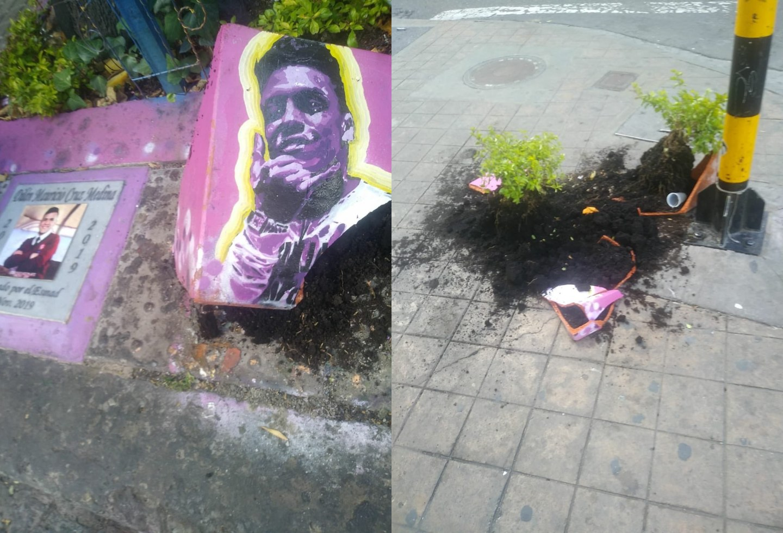 Destruyen monumento en homenaje a Dilan Cruz