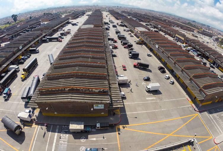 Vista general de Corabastos, en Bogotá