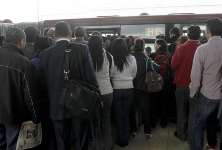 Usuarios en TransMilenio