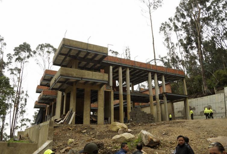 Predio El Bambú/Construcción ilegal en Cerros Orientales de Bogotá.