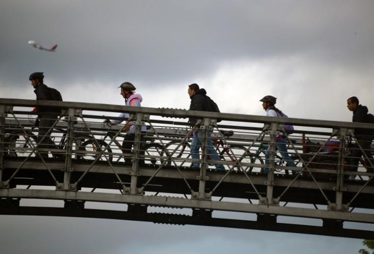 Usuarios de bicicleta en Bogotá