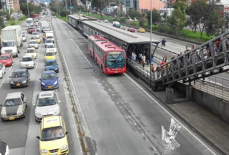 Trancón en Bogotá