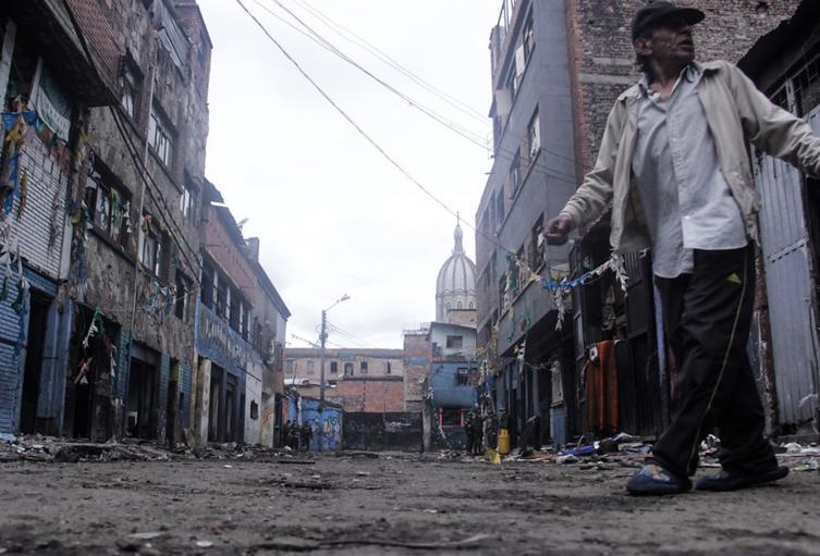 La antigua calle del Bronx en Bogotá
