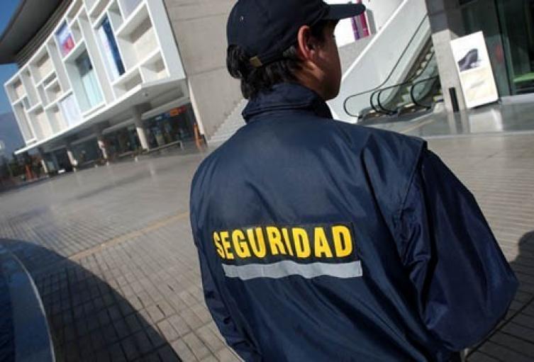 Guarda de seguridad escopolaminado