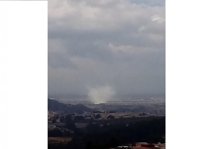 Incendio forestal en Tunjuelito