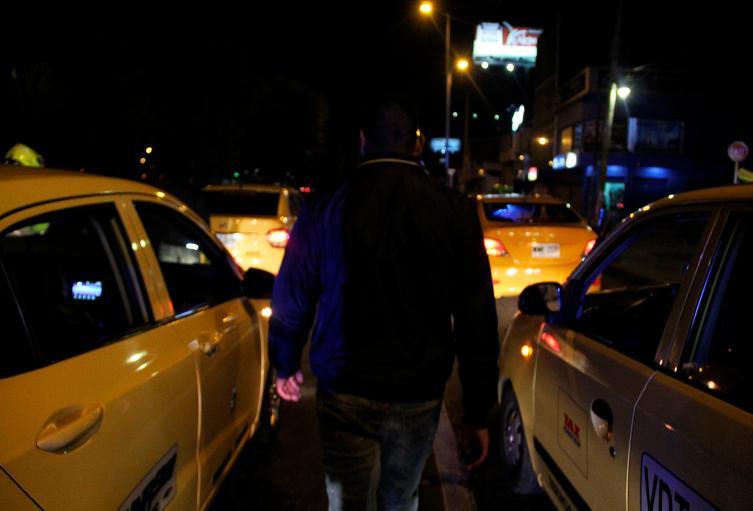 Foto de referencia de taxistas en Bogotá