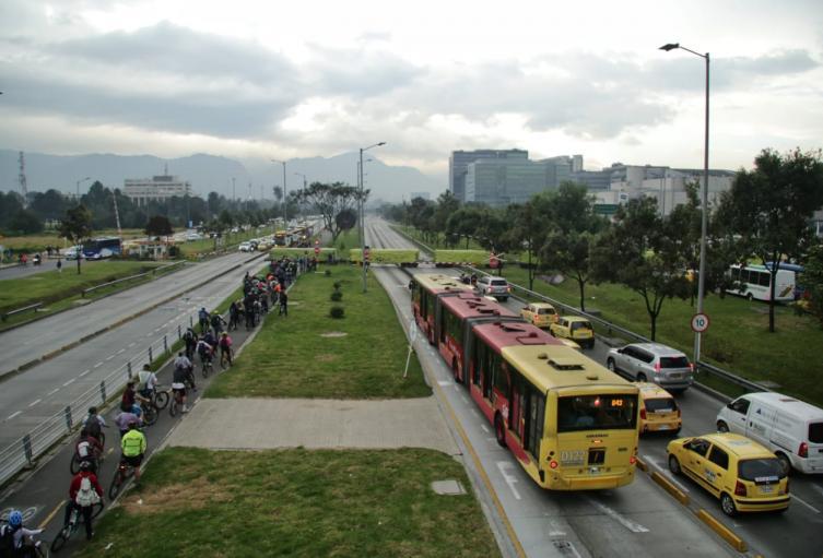 Panorama del día sin carro y sin moto en Bogotá, en 2019