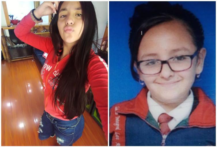 Luna y Valentina, jóvenes desaparecidas en Soacha