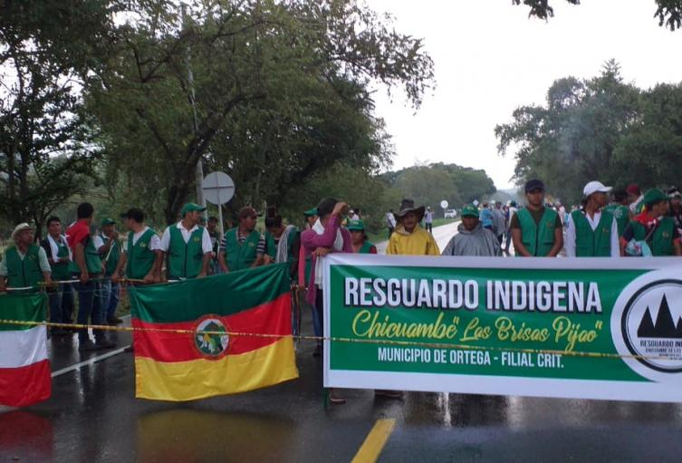 Minga indígena en Natagaima, Tolima.