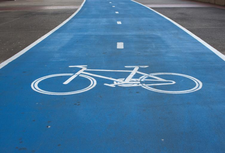 Zona exclusiva de paso para ciclistas