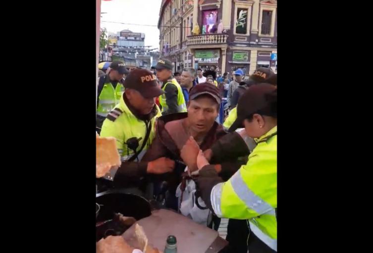 Abuso de autoridad en San Victorino
