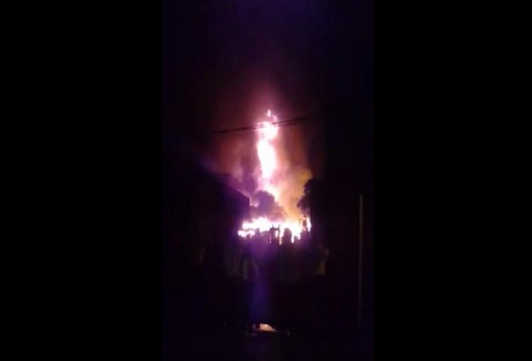 Incendio en Mesitas del Colegio