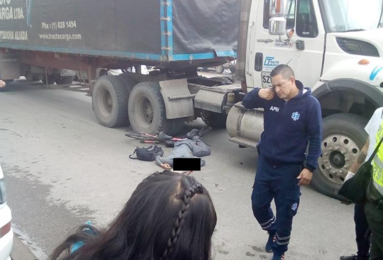 Accidente el occidente de Bogotá