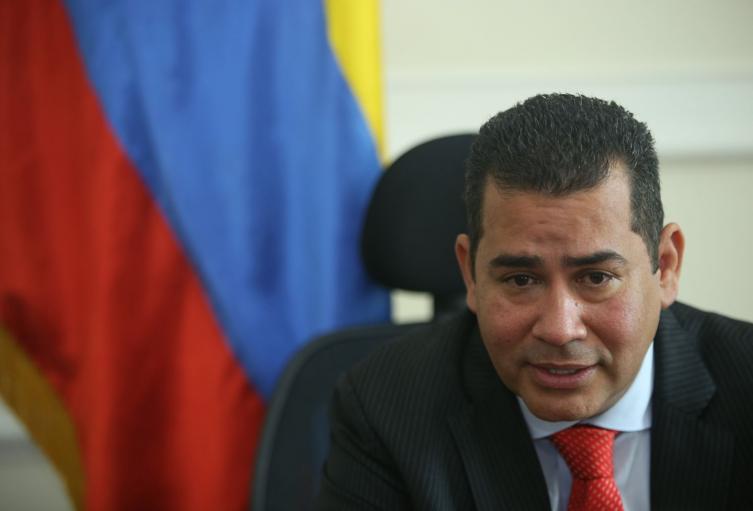 El saliente presidente de la Cámara, Alejandro Chacón.