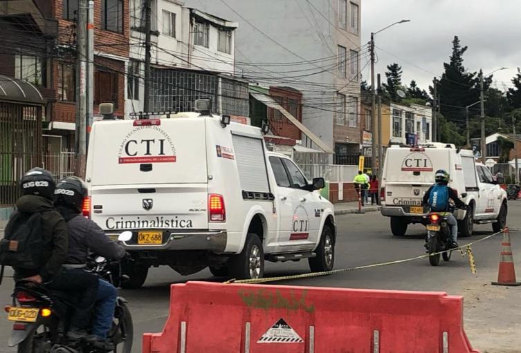 CTI levantamiento de cuerpo en Chapinero