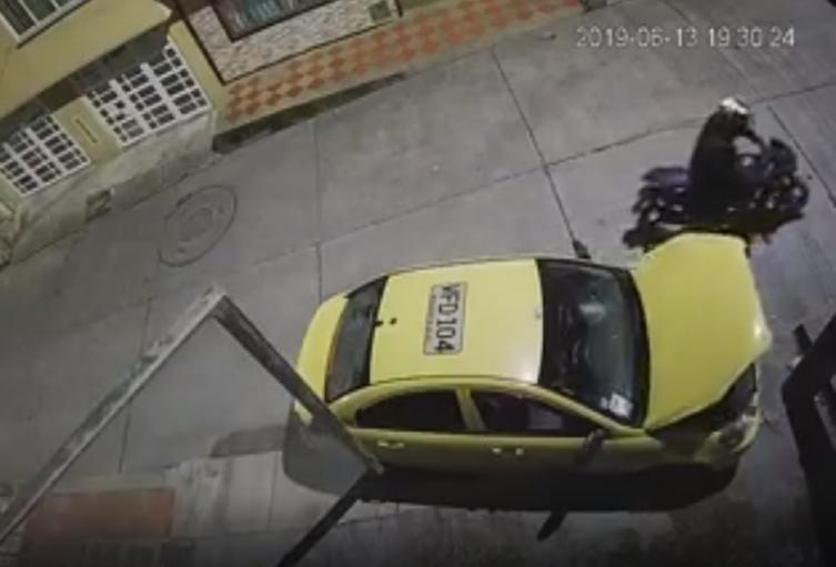 Robo a un taxi en Bogotá