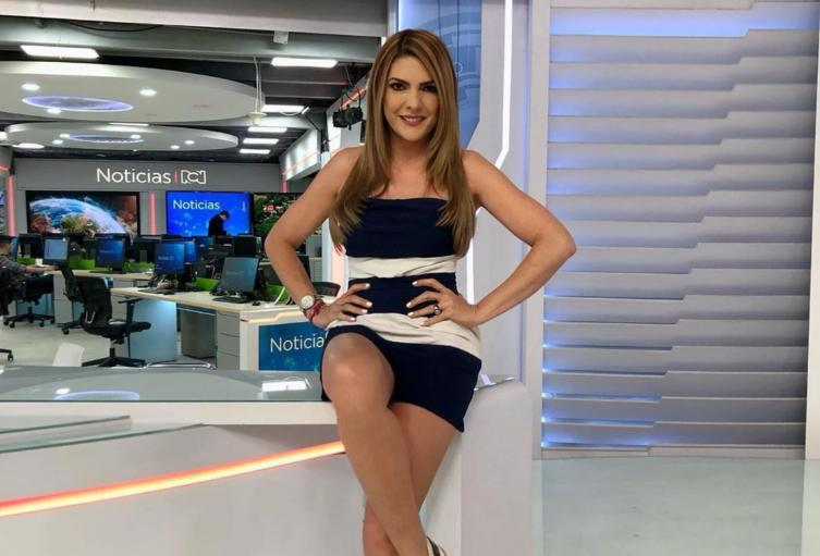 La presentadora Ana Karina Soto.