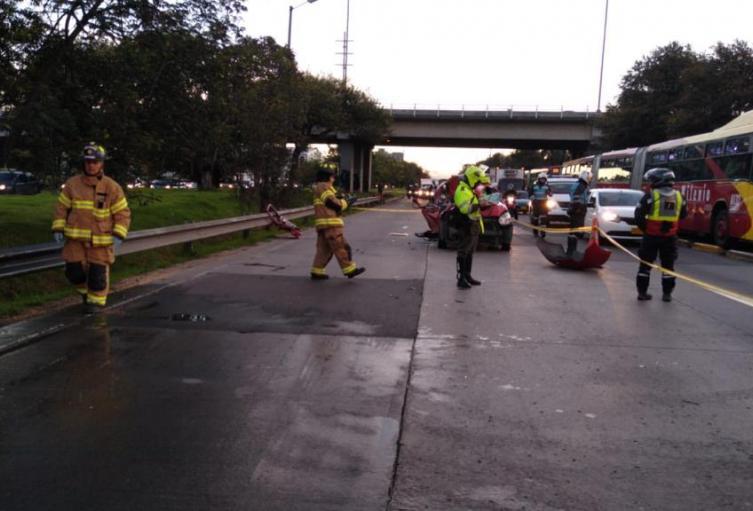 Accidente en Autopista Norte