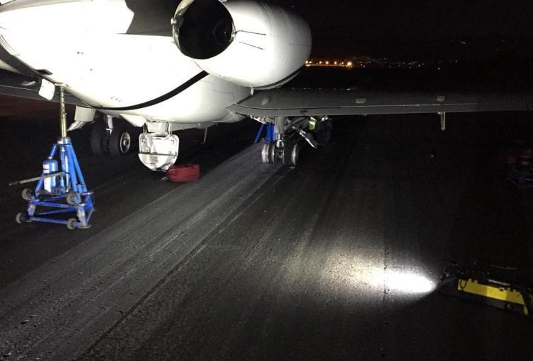 Aeronave varada en el Aeropuerto el Dorado de Bogotá