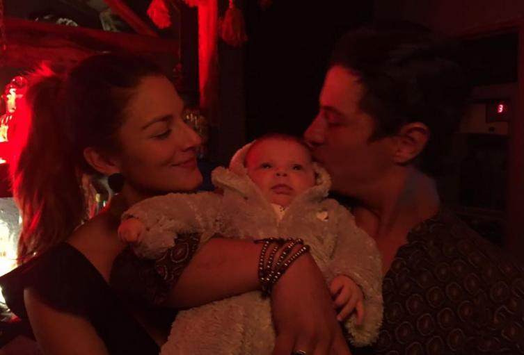 Natalia Jerez, Mateo Páez y su bebé Carlota