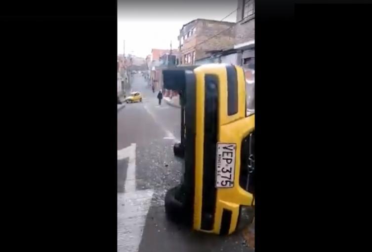 Accidente de taxi en Bogotá