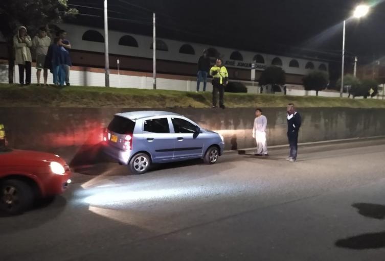 Esta es la escena del aterrador crimen de un conductor de plataformas digitales en Bogotá.