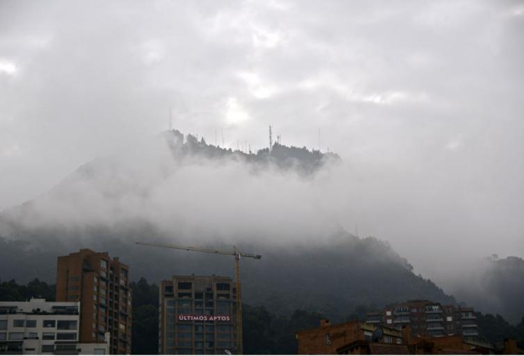 Clima en Bogotá, con frío
