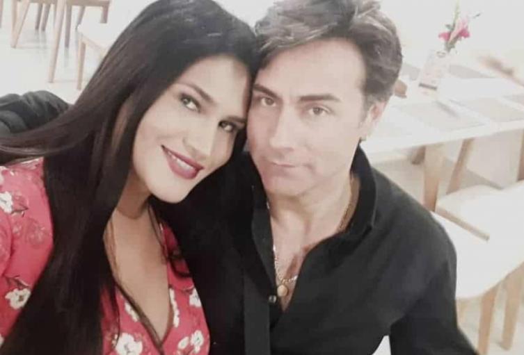 María Gabriela Isler y el actor Mauro Urquijo