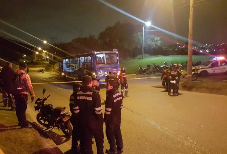 Accidente de tránsito en av. Boyacá