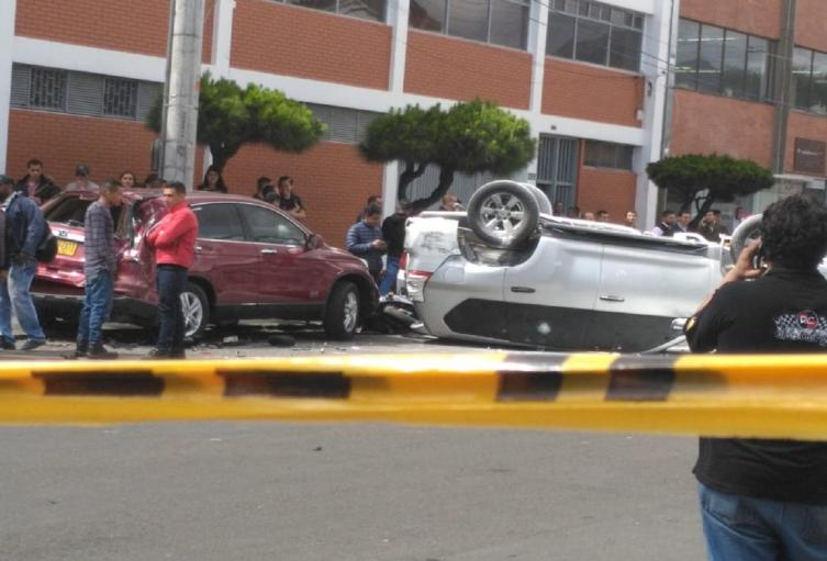 Accidente en zona industrial de Puente Aranda