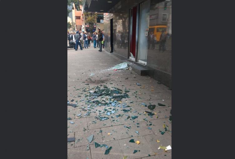 Detonación en la sede de Davivienda de Avenida Chile