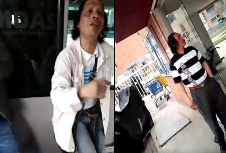 Supuesto mendigo enfermo, en Bogotá