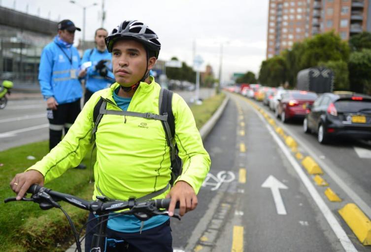 Cicloruta calle 116 en Bogotá