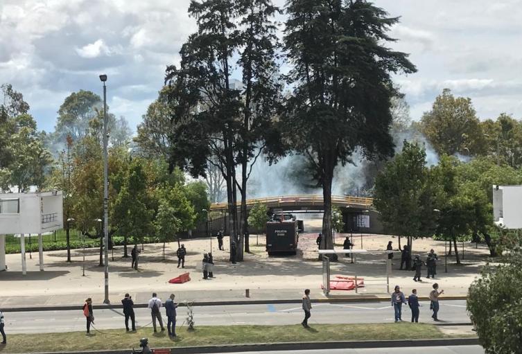 Disturbios en Universidad Nacional