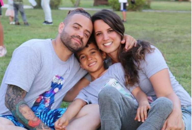 Nacho y su esposa Inger Mendoza