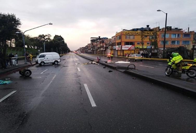Peatón murió al ser atropellado por presunto carro fantasma en la localidad de Engativá