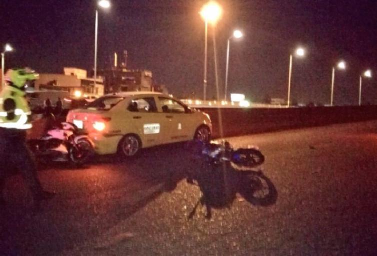 Accidente en la Avenida Boyacá