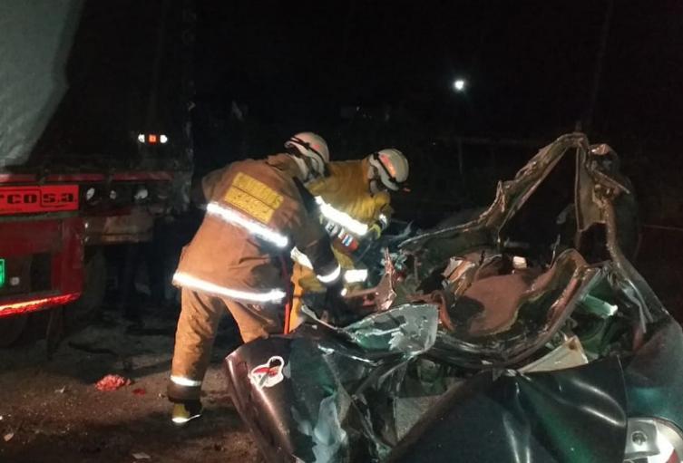 Accidente de tránsito en Chinauta