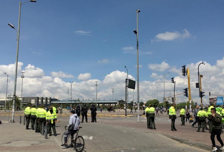 Policias en Bogotá