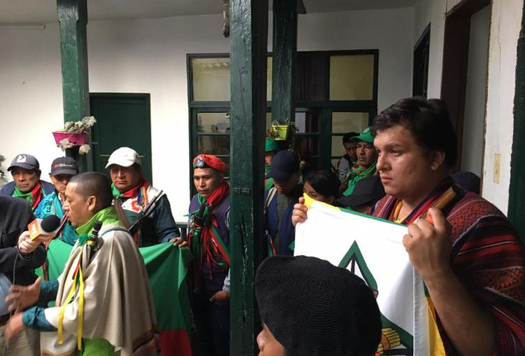 Indígenas llegan a Bogotá