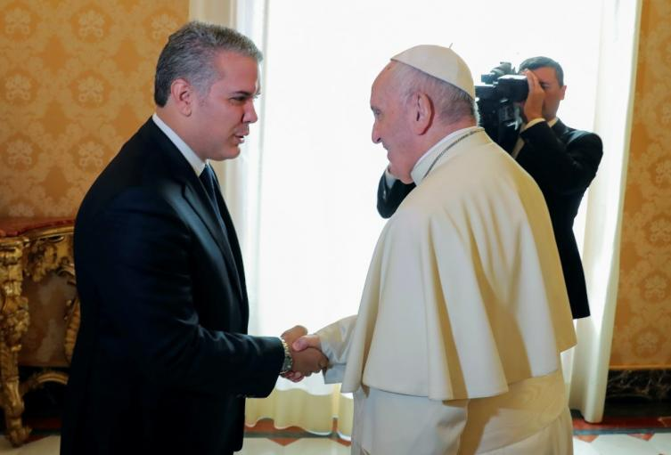 Iván Duque visitó al papa Francisco