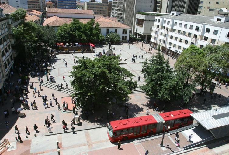 Eje Ambiental - Avenida Jiménez en Bogotá